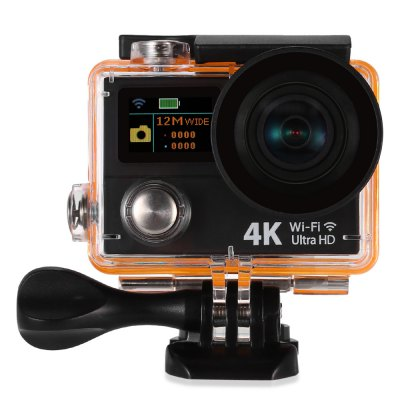 H8Se 4K UHD Action Camera WiFiAction Cameras<br>H8Se 4K UHD Action Camera WiFi<br><br>Anti-shake: No<br>Audio System: Built-in microphone/speaker (AAC)<br>Auto Focusing: No<br>Battery Capacity (mAh): 1050mAh<br>Battery Type: Removable<br>Camera Timer: No<br>Charge way: USB charge by PC<br>Charging Time: 30 minutes<br>Chipset: Sunplus 6350<br>Chipset Name: Sunplus<br>Decode Format: H.264<br>Features: Wireless<br>FPV Output: No<br>Function: Loop-cycle Recording<br>Image Format : JPG<br>Lens Diameter: 17.5mm<br>Loop-cycle Recording : Yes<br>Max External Card Supported: TF 64G (not included)<br>Model: H8Se<br>Night vision : No<br>Package Contents: 1 x Action Camera, 1 x Waterproof Housing + Screw + Mount, 1 x 2.4G Remote Controller, 1 x English User Manual, 1 x Power Adapter, 1 x USB Cable, 1 x Backdoor, 1 x Clip, 1 x Frame, 1 x Bicycle Mount,<br>Package size (L x W x H): 27.50 x 17.50 x 7.00 cm / 10.83 x 6.89 x 2.76 inches<br>Package weight: 0.5620 kg<br>Product size (L x W x H): 6.00 x 3.00 x 4.00 cm / 2.36 x 1.18 x 1.57 inches<br>Product weight: 0.1370 kg<br>Remote Control: Yes<br>Screen: Dual Screen<br>Screen resolution: 320x240<br>Screen size: 2.0inch<br>Standby time: More than 5h<br>Time lapse: No<br>Type: Sports Camera<br>Type of Camera: 4K<br>Video format: MP4<br>Video Frame Rate: 120fps,25fps,30FPS,60FPS<br>Video Output : HDMI<br>Video Resolution: 1080P(30fps),1080P(60fps),2.7K (30fps),4K (25fps),720P (120fps)<br>Water Resistant: 30m<br>Waterproof: Yes<br>Wide Angle: 170 degree wide angle<br>WIFI: Yes<br>WiFi Distance : About 20m<br>Working Time: About 2h