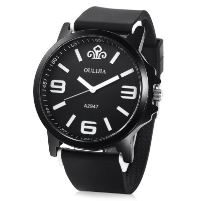OULIJIA A2947 Male Quartz Rubber Band Watch