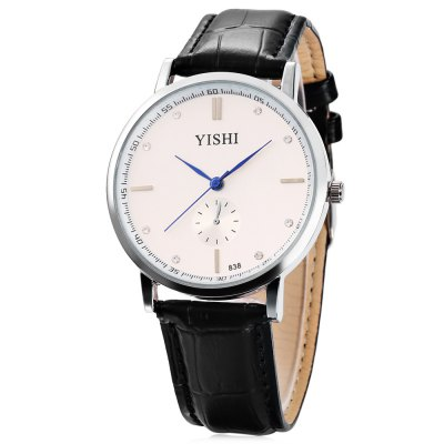 YISHI 838 Male Ultra-thin Dial Quartz Watch
