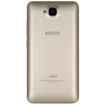 UHANS H5000 4G SmartphoneCell phones<br>UHANS H5000 4G Smartphone<br><br>Brand: UHANS<br>Type: 4G Smartphone<br>OS: Android 6.0<br>Service Provide: Unlocked<br>Language: Multi language<br>SIM Card Slot: Dual SIM,Dual Standby<br>SIM Card Type: Micro SIM Card,Nano SIM Card<br>CPU: MTK6737<br>Cores: 1.3GHz,Quad Core<br>GPU: Mali-T720<br>RAM: 3GB RAM<br>ROM: 32GB<br>External Memory: TF card up to 64GB (not included)<br>Wireless Connectivity: 2.4GHz/5GHz WiFi,3G,4G,A-GPS,Bluetooth 4.0,GPS,GSM,WiFi<br>WIFI: 802.11b/g/n wireless internet<br>Network type: FDD-LTE+WCDMA+GSM<br>2G: GSM 850/900/1800/1900MHz<br>3G: WCDMA 900/2100MHz<br>4G: FDD-LTE 800/900/1800/2100/2600MHz<br>Screen type: Corning Gorilla Glass,IPS<br>Screen size: 5.0 inch<br>Screen resolution: 1280 x 720 (HD 720)<br>Pixels Per Inch (PPI): 294PPI<br>Camera type: Dual cameras (one front one back)<br>Back-camera: 8.0MP ( SW 13.0 MP ) with flash light and AF<br>Front camera: 5.0MP ( SW 8.0MP )<br>Video recording: Yes<br>Auto Focus: Yes<br>Flashlight: Yes<br>Picture format: BMP,GIF,JPEG,PNG<br>Music format: 3GP,AAC,AMR,MP3,OGG,WMA<br>Video format: 3GP,ASF,MP4,WMV<br>E-book format: TXT<br>Games: Android APK<br>I/O Interface: 1 x Micro SIM Card Slot,1 x Nano SIM Card Slot,3.5mm Audio Out Port,Micro USB Slot,Speaker,TF/Micro SD Card Slot<br>Bluetooth Version: V4.0<br>Sensor: Ambient Light Sensor,Gesture Sensor,Gravity Sensor,Proximity Sensor<br>Additional Features: 3G,4G,Alarm,Bluetooth,Browser,Calculator,Calendar,MP3,MP4,People,Video Call,Wi-Fi<br>Battery Capacity (mAh): 1 x 4500mAh<br>Cell Phone: 1<br>Power Adapter: 1<br>USB Cable: 1<br>Back Case : 1<br>Screen Protector: 1<br>English Manual : 1<br>Product size: 14.35 x 7.22 x 1.20 cm / 5.65 x 2.84 x 0.47 inches<br>Package size: 16.60 x 9.60 x 5.30 cm / 6.54 x 3.78 x 2.09 inches<br>Product weight: 0.180 kg<br>Package weight: 0.373 kg