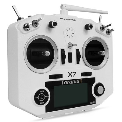 FrSky TARANIS Q X7 2.4GHz 7CH TransmitterRadios &amp; Receiver<br>FrSky TARANIS Q X7 2.4GHz 7CH Transmitter<br><br>Brand: FrSky<br>Channel: 7-Channels<br>Package Contents: 1 x Taranis Q X7 Transmitter, 1 x Back Strap, 1 x English Manual<br>Package size (L x W x H): 30.00 x 19.00 x 27.00 cm / 11.81 x 7.48 x 10.63 inches<br>Package weight: 1.110 kg<br>Product weight: 1.040 kg<br>Remote Control: 2.4GHz Wireless Radio Control<br>Type: Transmitter