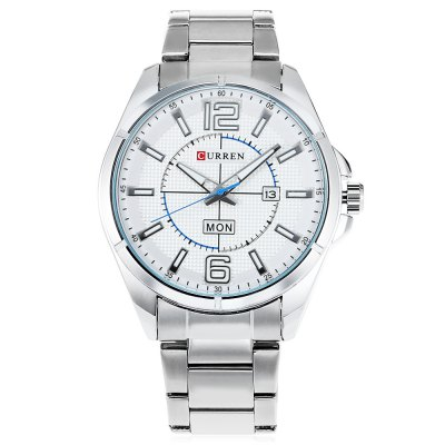 CURREN 8271 Men Quartz WatchMens Watches<br>CURREN 8271 Men Quartz Watch<br><br>Band material: Stainless Steel<br>Band size: 23 x 2 cm / 9.06 x 0.79 inches<br>Brand: Curren<br>Case material: Stainless Steel<br>Clasp type: Folding clasp with safety<br>Dial size: 4 x 4 x 1.2 cm / 1.57 x 1.57 x 0.47 inches<br>Display type: Analog<br>Movement type: Quartz watch<br>Package Contents: 1 x CURREN 8271 Men Quartz Watch<br>Package size (L x W x H): 12.00 x 5.00 x 2.20 cm / 4.72 x 1.97 x 0.87 inches<br>Package weight: 0.178 kg<br>Product size (L x W x H): 23.00 x 4.00 x 1.20 cm / 9.06 x 1.57 x 0.47 inches<br>Product weight: 0.118 kg<br>Shape of the dial: Round<br>Special features: Day, Date<br>Watch style: Business<br>Watches categories: Male table<br>Water resistance : Life water resistant