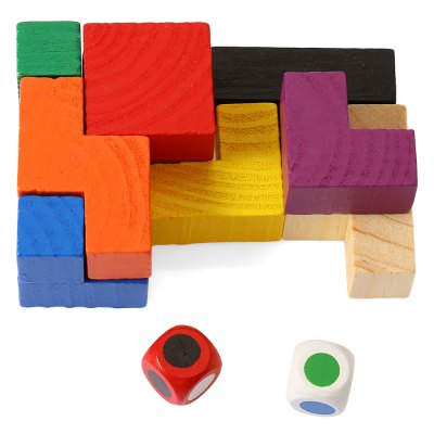 Colorful Unlock Puzzle Toy Wooden 3D Jigsaw