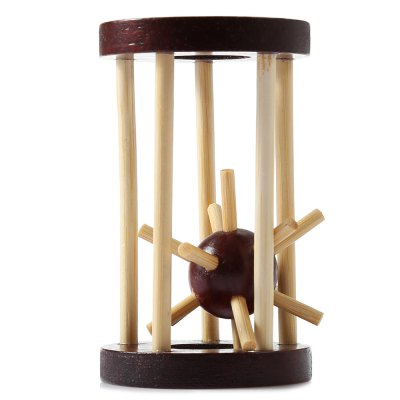 Classic Unlock Puzzle Toy Wooden Cage 3D Jigsaw