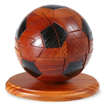 Classic Football Style Unlock Puzzle Toy Wooden Jigsaw