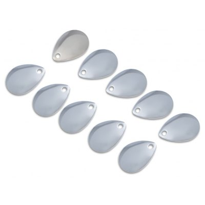10pcs Spoon-shaped Stainless Steel DIY Spoon Lure