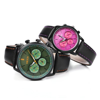 KEZZI K - 1619 Couple WatchesCouples Watches<br>KEZZI K - 1619 Couple Watches<br><br>Brand: Kezzi<br>Watches categories: Couple tables<br>Watch style: Fashion<br>Watch color: White, Gray, Red + Green<br>Shape of the dial: Round<br>Movement type: Quartz watch<br>Display type: Analog<br>Case material: Alloy<br>Band material: PU Leather<br>Clasp type: Pin buckle<br>Package weight: 0.113 kg<br>Package size (L x W x H): 26.00 x 5.00 x 2.00 cm / 10.24 x 1.97 x 0.79 inches<br>The male dial dimension (L x W x H): 4 x 4 x 1.2 cm / 1.57 x 1.57 x 0.47 inches<br>The male watch band dimension (L x W): 25 x 2.2 cm / 9.84 x 0.87 inches<br>The male watch weight: 45g<br>The male watch size (L x W x H): 25 x 4 x 1.2 cm / 9.84 x 1.57 x 0.47 inches<br>The female dial dimension (L x W x H): 3.1 x 3.1 x 0.9 cm / 1.22 x 1.22 x 0.35 inches<br>The female watch band dimension (L x W): 23 x 1.6 cm / 9.06 x 0.63 inches<br>The female watch weight: 28g<br>The female size (L x W x H): 23 x 3.1 x 0.9 cm / 9.06 x 1.22 x 0.35 inches<br>Package Contents: 1 x KEZZI K - 1619 Couple Watches