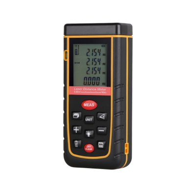 80M LCD Display Laser Distance Meter Digital Range Finder Laser Tape Measure with Bubble LevelLaser Rangefinder, Electronic Distance Meter<br>80M LCD Display Laser Distance Meter Digital Range Finder Laser Tape Measure with Bubble Level<br><br>Material: Electronic Components<br>Package Contents: 1 x Laser Distance Meter, 1 x Carrying Bag, 1 x Holding Rope, 2 x AAA Battey, 1 x English User Manual<br>Package size: 18.00 x 13.50 x 6.50 cm / 7.09 x 5.31 x 2.56 inches<br>Package weight: 0.303 kg<br>Primary functions: Professional 80m distance meter<br>Product size: 11.80 x 5.40 x 2.80 cm / 4.65 x 2.13 x 1.1 inches<br>Product weight: 0.108 kg<br>Scope of application: Home appliance, Office, Industrial, Education, Agricultural<br>Type: Measuring instruments, Professional instruments<br>Working Power: 2 x 1.5V AAA batteries