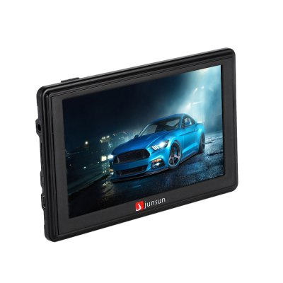 Junsun D200 5.0 inch Car GPS NavigatorGPS Navigation<br>Junsun D200 5.0 inch Car GPS Navigator<br><br>Battery: Built-in 800mAh Li-ion battery<br>Brand: Junsun<br>CPU: ARM Cortex-A7<br>E-book: TXT<br>External memory card: TF 32G (not included)<br>Function: Language selection, FM Transmitter, Bluetooth, Touch Screen, Music/Video player<br>Language: Bulgarian,Dutch,Finnish,French,German,Hebrew,Hungarian,Indonesian,Italian,Lithuanian,Norwegian,Polish,Portuguese,Russian,Slovak,Slovenian<br>Map: Europe<br>Memory card support: TF card<br>Model: D200<br>Music: MP3<br>Package Contents: 1 x Junsun D200 5.0 inch Car GPS Navigator, 1 x Car Charger, 1 x USB Cable, 1 x Installation Chip, 1x Sucker Cup Mount, 1 x English User Manual<br>Package size (L x W x H): 21.50 x 13.30 x 9.30 cm / 8.46 x 5.24 x 3.66 inches<br>Package weight: 0.570 kg<br>Picture: BMP,JPG,PNG<br>Power Cable Length: About 93cm car charger cable, about 55cm USB cable<br>Pre-loaded Maps: Yes<br>Product size (L x W x H): 13.30 x 1.30 x 8.50 cm / 5.24 x 0.51 x 3.35 inches<br>Product weight: 0.300 kg<br>Screen resolution: 800 x 480<br>Screen size: 5inch<br>Video: 3GP,MP4,WMV<br>Waterproof: No