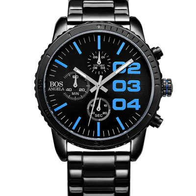 ANGELA BOS 8013G Working Sub-dial Men Quartz WatchMens Watches<br>ANGELA BOS 8013G Working Sub-dial Men Quartz Watch<br><br>Available Color: Black,Blue,Red,White<br>Band material: Stainless Steel<br>Band size: 21 x 2 cm / 8.27 x 0.79 inches<br>Case material: Stainless Steel<br>Clasp type: Folding clasp with safety<br>Dial size: 4.1 x 4.1 x 1 cm / 1.61 x 1.61 x 0.39 inches<br>Display type: Analog<br>Movement type: Quartz watch<br>Package Contents: 1 x ANGELA BOS 8013G Men Quartz Watch, 1 x Box<br>Package size (L x W x H): 10.50 x 7.50 x 7.00 cm / 4.13 x 2.95 x 2.76 inches<br>Package weight: 0.236 kg<br>Product size (L x W x H): 21.00 x 4.10 x 1.00 cm / 8.27 x 1.61 x 0.39 inches<br>Product weight: 0.106 kg<br>Shape of the dial: Round<br>Watch style: Business<br>Watches categories: Male table