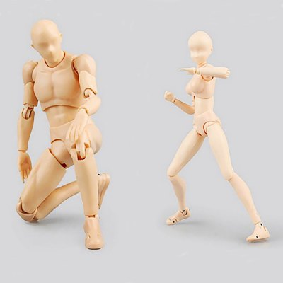 Action Figure Doll for Drawing Practice - 5.91 inch