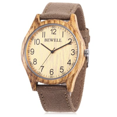 BEWELL ZS - W124B Wood Case Men Quartz Watch