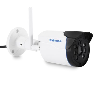 Szsinocam SN - IPC - 5023SWF 1.0MP WiFi IP CameraIP Cameras<br>Szsinocam SN - IPC - 5023SWF 1.0MP WiFi IP Camera<br><br>Alarm Notice: Email Photo<br>APP: CamViews<br>APP Language: Chinese,English<br>Backlight Compensation: No<br>Brand: Szsinocam<br>Color: White<br>Compatible Operation Systems: Microsoft Windows 98 / ME / 2000 / XP,Microsoft Windows 98/ ME /2000/ XP,Windows 7,Windows 8,Windows Vista<br>Environment: Indoor,Outdoor<br>FOV: 72 degree<br>Frame Rate (FPS): 25fps<br>Image Adjustment: Brightness,Color saturation,Contrast,Hue<br>Infrared Distance: 25m<br>Infrared LED: 6PCS LEDs<br>IP camera performance: Screenshot, Motion Detection, Real-time video capture and recording, Night Vision<br>IP Mode : static IP address, Dynamic IP address<br>Language: English,Japanese,Portuguese (Brazil),Russian,Simplified Chinese,Traditional Chinese<br>Maximum Monitoring Range: 25m<br>Minimum Illumination: 0.01 Lux<br>Mobile Access: Android,IOS<br>Model: SN - IPC - 5023SWF<br>Motion Detection Distance: 25m<br>Network Port: RJ-45<br>Operate Temperature (?): -20 - 50 Deg.C<br>Operating system: Microsoft Windows 2000,Microsoft Windows 7,Microsoft Windows 8,Microsoft Windows 98,Microsoft Windows Vista,Microsoft Windows XP<br>Package Contents: 1 x IP Camera, 1 x English User Manual, 1 x Power Adapter, 1 x CD, 3 x Screw, 3 x Screw Cap, 1 x Screw Driver, 1 x Antenna<br>Package size (L x W x H): 19.50 x 10.00 x 10.50 cm / 7.68 x 3.94 x 4.13 inches<br>Package weight: 0.750 kg<br>Pixels: 1MP<br>Product size (L x W x H): 19.00 x 7.00 x 7.00 cm / 7.48 x 2.76 x 2.76 inches<br>Product weight: 0.550 kg<br>Protocol: DDNS,DHCP,FTP,HTTP,LAN,ONVIF,P2P,RTSP,SMTP<br>Resolution: 1280 x 720<br>Sensor: CMOS<br>Sensor size (inch): 1/4<br>Shape: Bullet Camera<br>Technical Feature: Waterproof, Infrared<br>Video Compression Format: H.264<br>Video format: AVI<br>Video Standard: NTSC,PAL<br>Waterproof: IP66<br>Web Browser: IE,Microsoft Internet Explorer 6.0 above<br>White Balance: No<br>WiFi Distance : 40m with no obstacles<br>Wireless: WiFi 802.11 b/g/n<br>Working Voltage: DC 12V / 1A