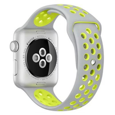 Resin Soft Watchband StrapApple Watch Bands<br>Resin Soft Watchband Strap<br><br>Color: Black,Gray,White,Yellow<br>Function: for Apple Watch 38mm<br>Material: Resin<br>Package Contents: 1 x Watchband<br>Package size: 22.00 x 6.50 x 1.60 cm / 8.66 x 2.56 x 0.63 inches<br>Package weight: 0.037 kg<br>Product size: 22.80 x 3.10 x 0.30 cm / 8.98 x 1.22 x 0.12 inches<br>Product weight: 0.015 kg
