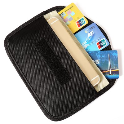 KELIMA Phone Anti-radiation BagCases &amp; Leather<br>KELIMA Phone Anti-radiation Bag<br><br>Color: Black,Gold,Red<br>Features: FullBody Cases, Pouches<br>Material: Nylon<br>Package Contents: 1 x Phone Pouch<br>Package size (L x W x H): 25.00 x 13.80 x 1.80 cm / 9.84 x 5.43 x 0.71 inches<br>Package weight: 0.068 kg<br>Product size (L x W x H): 19.80 x 10.30 x 0.80 cm / 7.8 x 4.06 x 0.31 inches<br>Product weight: 0.041 kg<br>Style: Modern, Solid Color