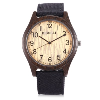 BEWELL ZS - W124B Wood Case Men Quartz WatchMens Watches<br>BEWELL ZS - W124B Wood Case Men Quartz Watch<br><br>Band material: Canvas<br>Band size: 25.8 x 2.2 cm / 10.16 x 0.87 inches<br>Brand: Bewell<br>Case material: Wood<br>Clasp type: Pin buckle<br>Dial size: 4.5 x 4.5 x 1 cm / 1.77 x 1.77 x 0.39 inches<br>Display type: Analog<br>Movement type: Quartz watch<br>Package Contents: 1 x BEWELL ZS - W124B Men Quartz Watch, 1 x Box<br>Package size (L x W x H): 7.00 x 7.00 x 7.00 cm / 2.76 x 2.76 x 2.76 inches<br>Package weight: 0.1110 kg<br>Product size (L x W x H): 25.80 x 4.50 x 1.00 cm / 10.16 x 1.77 x 0.39 inches<br>Product weight: 0.0230 kg<br>Shape of the dial: Round<br>Watch color: Black, Deep Khaki, Light Khaki<br>Watch style: Fashion<br>Watches categories: Male table<br>Water resistance : Life water resistant<br>Wearable length: 19 - 23.3 cm / 7.48 - 9.17 inches