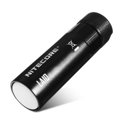 NITECORE LA10 LED Camping LightLED Flashlights<br>NITECORE LA10 LED Camping Light<br><br>Battery Included or Not: No<br>Battery Quantity: 1<br>Battery Type: AA<br>Beam Distance: 0-50m<br>Body Material: Aluminium Alloy<br>Brand: Nitecore<br>Emitters: Cree XP-G2 S3<br>Emitters Quantity: 1<br>Feature: Tail Stand, Reverse Polarity Protection, Magnetic, Lightweight, Anti-Roll Rugged Design<br>Flashlight size: Mini<br>Flashlight Type: Tiny<br>Function: Camping<br>Impact Resistance: 1.5M<br>Light color: Cool White<br>Light Modes: High,Location beacon,Low,Mid<br>Lumens Range: 1-200Lumens<br>Luminous Flux: 135LM<br>Max.: 23h<br>Model: LA10<br>Package Contents: 1 x NITECORE LA10 LED Camping Light, 1 x Lanyard, 2 x O-ring, 1 x English Manual<br>Package size (L x W x H): 13.00 x 7.00 x 4.00 cm / 5.12 x 2.76 x 1.57 inches<br>Package weight: 0.0910 kg<br>Power Source: Battery<br>Product size (L x W x H): 7.85 x 2.20 x 2.20 cm / 3.09 x 0.87 x 0.87 inches<br>Product weight: 0.0410 kg<br>Waterproof Standard: IPX-6 Standard Waterproof<br>Working Voltage: 1.2V