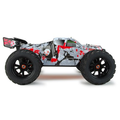 DHK HOBBY 8384 1:8 4WD Off-road RC Racing Truck - RTRRC Cars<br>DHK HOBBY 8384 1:8 4WD Off-road RC Racing Truck - RTR<br><br>Brand: DHK HOBBY<br>Car Power: Built-in rechargeable battery<br>Detailed Control Distance: 100-150m<br>Drive Type: 4 WD<br>Features: Radio Control<br>Functions: Brake, Forward/backward, Head Up, Turn left/right<br>Motor Type: Brushless Motor<br>Package Contents: 1 x RC Truck, 1 x Transmitter, 1 x Charger, 1 x Four-way Wrench, 1 x English Manual<br>Package size (L x W x H): 60.50 x 36.50 x 20.50 cm / 23.82 x 14.37 x 8.07 inches<br>Package weight: 5.4000 kg<br>Product size (L x W x H): 48.00 x 39.00 x 28.00 cm / 18.9 x 15.35 x 11.02 inches<br>Product weight: 3.6700 kg<br>Proportion: 1:5<br>Racing Time: 15 - 20min<br>Remote Control: 2.4GHz Wireless Remote Control<br>Transmitter Power: 4 x 1.5V AA (not included)<br>Type: Monster Truck