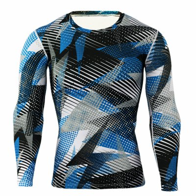Long Sleeve Tattoo T ShirtsWeight Lifting Clothes<br>Long Sleeve Tattoo T Shirts<br><br>Color: Blue<br>Features: Breathable, High elasticity, Quick Dry<br>Gender: Men<br>Material: Polyester<br>Package Content: 1 x T-shirt<br>Package size: 36.00 x 24.00 x 2.00 cm / 14.17 x 9.45 x 0.79 inches<br>Package weight: 0.230 kg<br>Product weight: 0.180 kg<br>Size: 2XL,3XL,L,M,XL<br>Types: Long Sleeves