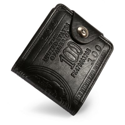 Men PU Trendy Solid Color Hasp Wallet Coin Purse