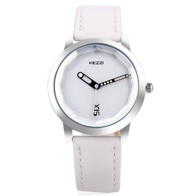 KEZZI K - 1589 Dodecagon Mirror Dial Unisex Quartz WatchUnisex Watches<br>KEZZI K - 1589 Dodecagon Mirror Dial Unisex Quartz Watch<br><br>Available Color: Green,Pink,White<br>Band material: Leather<br>Band size: 23.5 x 1.8 cm / 9.25 x 0.71 inches<br>Brand: Kezzi<br>Case material: Alloys<br>Clasp type: Pin buckle<br>Dial size: 3.4 x 3.4 x 1 cm / 1.34 x 1.34 x 0.39 inches<br>Display type: Analog<br>Movement type: Quartz watch<br>Package Contents: 1 x KEZZI K - 1589 Unisex Quartz Watch<br>Package size (L x W x H): 24.50 x 4.40 x 2.00 cm / 9.65 x 1.73 x 0.79 inches<br>Package weight: 0.070 kg<br>People: Female table,Male table<br>Product size (L x W x H): 23.50 x 3.40 x 1.00 cm / 9.25 x 1.34 x 0.39 inches<br>Product weight: 0.030 kg<br>Shape of the dial: Round<br>Watch style: Fashion<br>Wearable length: 17.4 - 21.6 cm / 6.85 - 8.50 inches