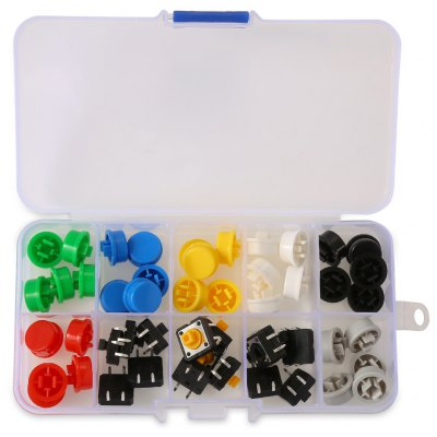 Colorful Push Button Switch Tact with Cap - 50pcs
