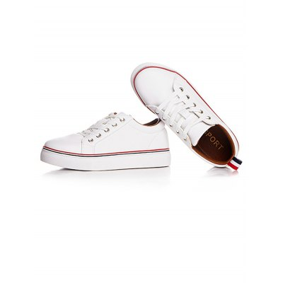 Microfiber Leather White Trainers
