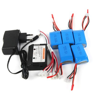 Original WLtoys 1-for-5 7.4V 1200mAh LiPo Balance Charger SetRC Car Parts<br>Original WLtoys 1-for-5 7.4V 1200mAh LiPo Balance Charger Set<br><br>Brand: WLtoys<br>Package Contents: 1 x Balance Charger, 1 x Power Adapter, 1 x Connection Cable, 5 x 7.4V 1200mAh LiPo Battery<br>Package size (L x W x H): 17.00 x 13.00 x 5.00 cm / 6.69 x 5.12 x 1.97 inches<br>Package weight: 0.410 kg<br>Type: Battery, Charger