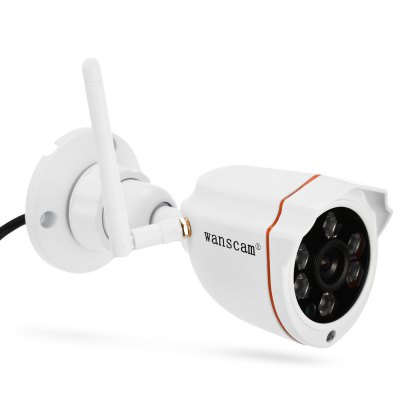 WANSCAM HW0050 720P WiFi IP Camera Hi3518E ProcessorIP Cameras<br>WANSCAM HW0050 720P WiFi IP Camera Hi3518E Processor<br><br>Alarm Notice: Email Photo<br>APP: E-View7<br>APP Language: Chinese,English<br>Backlight Compensation: Yes<br>Brand: WANSCAM<br>Color: White<br>Compatible Operation Systems: Mac OS,Microsoft Windows 98 / ME / 2000 / XP,Windows 7,Windows 8<br>Environment: Outdoor<br>FOV: 90 degrees<br>Frame Rate (FPS): 1 - 25fps<br>Image Adjustment: Brightness,Contrast,Sharpness<br>Infrared Distance: 35 - 40m<br>Infrared LED: 6pcs array LEDs<br>IP camera performance: Motion Detection, Support video control, Screenshot, Real-time video capture and recording, Night Vision<br>IP Mode : static IP address, Dynamic IP address<br>Language: Chinese (Traditional),Danish,Dutch,English,Finnish,French,Italian,Japanese,Korea,Polish,Portuguese,Russian,Spanish,Swedish<br>Maximum Monitoring Range: 10 - 15m<br>Minimum Illumination: 0.5 Lux<br>Mobile Access: Android,IOS<br>Model: HW0050<br>Motion Detection Distance: 10 - 15m<br>Network Port: RJ-45<br>Online Visitor (Max.): 6<br>Operate Temperature (?): -10 - 50 Deg.C<br>Operating system: Mac OS,Microsoft Windows 7,Microsoft Windows 8,Microsoft Windows XP<br>Package Contents: 1 x IP Camera, 1 x English User Manual, 1 x Power Adapter, 1 x Network Cable ( 85cm ), 1 x Set of Installation Accessories, 1 x Antenna<br>Package size (L x W x H): 20.50 x 16.00 x 10.50 cm / 8.07 x 6.3 x 4.13 inches<br>Package weight: 0.537 kg<br>Pixels: 1MP<br>Product size (L x W x H): 7.00 x 7.50 x 17.00 cm / 2.76 x 2.95 x 6.69 inches<br>Product weight: 0.227 kg<br>Protocol: DDNS,DHCP,FTP,HTTP,LAN,P2P,RTSP,TCP,UPNP<br>Resolution: 1280 x 720<br>S/N Ration: 48dB<br>Sensor: CMOS<br>Sensor size (inch): 1/2<br>Shape: Bullet Camera<br>Technical Feature: Infrared, Waterproof<br>Video Compression Format: H.264<br>Video format: AVI<br>Video Standard: NTSC,PAL<br>Waterproof: IP66<br>Web Browser: Firefox,Google Chrome,IE<br>White Balance: Yes<br>WiFi Distance : 100m