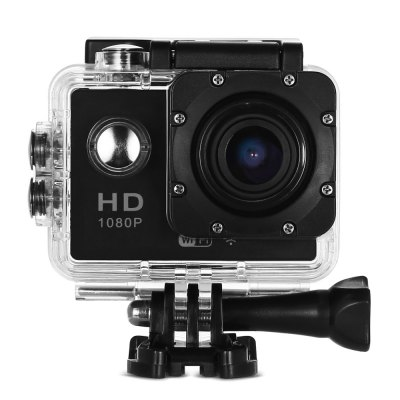 CS5000H 1080P WiFi Sport HD CameraAction Cameras<br>CS5000H 1080P WiFi Sport HD Camera<br><br>Anti-shake: Yes<br>Auto Focusing: No<br>Battery Capacity (mAh): 900mAh<br>Battery Type: Removable<br>Camera Timer: Yes<br>Charge way: USB charge by PC<br>Charging Time: 3 hours<br>Chipset: Generalplus 4248<br>Chipset Name: Generalplus<br>Features: Wireless<br>FPV Output: No<br>Function: Camera Timer, Anti-Shake<br>Image Format : JPEG<br>Max External Card Supported: TF 32G (not included)<br>Model: CS5000H<br>Night vision : No<br>Package Contents: 1 x Action Camera, 1 x Waterproof Housing + Screw + Mount, 1 x English User Manual, 1 x Power Adapter, 1 x Backdoor, 1 x Clip, 1 x Frame, 1 x Bicycle Mount, 1 x J-shaped Mount, 3 x Connector + Screw,<br>Package size (L x W x H): 26.50 x 16.50 x 6.50 cm / 10.43 x 6.5 x 2.56 inches<br>Package weight: 0.527 kg<br>Product size (L x W x H): 5.90 x 4.10 x 3.30 cm / 2.32 x 1.61 x 1.3 inches<br>Product weight: 0.053 kg<br>Screen resolution: 320x240<br>Screen size: 2.0inch<br>Standby time: 15 days<br>Type: Sports Camera<br>Type of Camera: 1080P<br>Video format: AVI<br>Video Frame Rate: 30FPS<br>Video Resolution: 1080P(30fps)<br>Water Resistant: 30M<br>Waterproof: Yes<br>Waterproof Rating : IP68<br>Wide Angle: 140 degree wide angle<br>WIFI: Yes<br>WiFi Distance : 10 - 15m<br>Working Time: 70 minutes at 1080P / 30fps