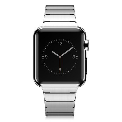 Stainless Steel Strap WatchbandApple Watch Bands<br>Stainless Steel Strap Watchband<br><br>Color: Black,Silver<br>Function: for Apple Watch 38mm<br>Material: Stainless Steel<br>Package Contents: 1 x Watchband, 1 x Pin<br>Package size: 24.50 x 7.90 x 1.60 cm / 9.65 x 3.11 x 0.63 inches<br>Package weight: 0.099 kg<br>Product size: 18.70 x 3.20 x 0.30 cm / 7.36 x 1.26 x 0.12 inches<br>Product weight: 0.075 kg