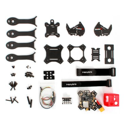 Holybro Shuriken X1 200mm FPV Racing Drone DIY Frame KitMulti Rotor Parts<br>Holybro Shuriken X1 200mm FPV Racing Drone DIY Frame Kit<br><br>Brand: Holybro<br>Package Contents: 1 x Frame Kit, 1 x Main Board, 1 x LED Board, 1 x GoPro Session Protector, 2 x Strap<br>Package size (L x W x H): 19.60 x 18.80 x 9.00 cm / 7.72 x 7.4 x 3.54 inches<br>Package weight: 0.397 kg<br>Product size (L x W x H): 17.80 x 17.80 x 8.00 cm / 7.01 x 7.01 x 3.15 inches<br>Product weight: 0.260 kg<br>Type: Frame Kit