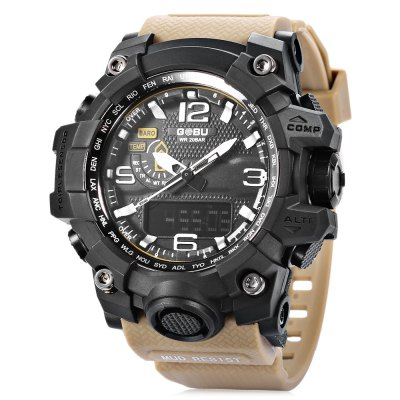 GOBU 1618 Men LED Quartz Digital Sports Watch