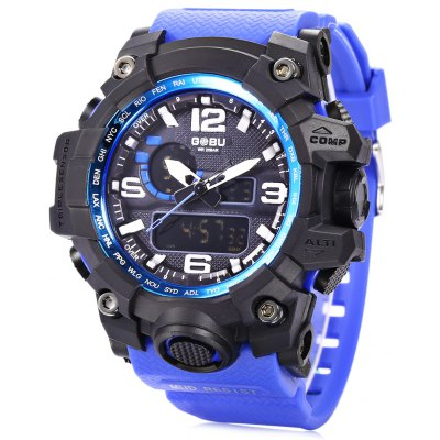 GOBU 1618 Men LED Sports Quartz Digital Watch