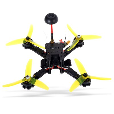 FuriBee Fuuton 200 200mm FPV Racing Drone - BNFBrushless FPV Racer<br>FuriBee Fuuton 200 200mm FPV Racing Drone - BNF<br><br>Brand: FuriBee<br>Burst Current: 30A<br>Continuous Current: 20A<br>CW / CCW: CCW,CW<br>Firmware: BLHeli-S<br>Functions: Oneshot125, DShot150<br>KV: 2500<br>Lens Diameter: 2.5mm<br>Model: 2205<br>Package Contents: 1 x Drone ( with FrSky Receiver ), 4 x Spare Propeller, 1 x Mushroom Antenna, 1 x Camera Bracket, 1 x Battery Strap, 1 x English Quick Start Guide<br>Package size (L x W x H): 31.00 x 31.00 x 8.00 cm / 12.2 x 12.2 x 3.15 inches<br>Package weight: 0.729 kg<br>Product size (L x W x H): 17.50 x 17.50 x 4.20 cm / 6.89 x 6.89 x 1.65 inches<br>Product weight: 0.272 kg<br>Sensor: CCD<br>Type: Frame Kit<br>Version: BNF<br>Video Resolution: 600TVL<br>Video Standards: PAL