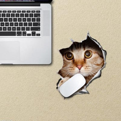 Cute Cat Shape 3D Mouse Pad Sticker Computer Peripherals