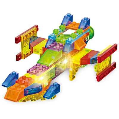 6 in 1 ABS Building Brick with Light - 134pcs / set