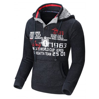 FREDD MARSHALL HoodieMens Hoodies &amp; Sweatshirts<br>FREDD MARSHALL Hoodie<br><br>Brand: FREDD MARSHALL<br>Material: Cotton<br>Package Contents: 1 x FREDD MARSHALL Hoodie<br>Package size: 40.00 x 28.00 x 2.00 cm / 15.75 x 11.02 x 0.79 inches<br>Package weight: 0.690 kg<br>Product weight: 0.642 kg<br>Size: L,M,XL,XXL