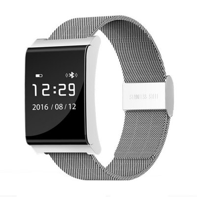 X9 Plus BLE 4.0 Smart WristbandSmart Watches<br>X9 Plus BLE 4.0 Smart Wristband<br><br>Bluetooth Version: Bluetooth 4.0<br>Waterproof: Yes<br>IP rating: IP67<br>Bluetooth calling: Phone call reminder<br>Messaging: Message reminder<br>Health tracker: Heart rate monitor,Pedometer,Sleep monitor<br>Anti-lost: Yes<br>Alert type: Vibration<br>Other Function: Alarm<br>Screen: OLED<br>Screen size: 0.95 inch<br>Operating mode: Touch Screen<br>Type of battery: Li-polymer Battery<br>Battery Capacty: 100mAh<br>Charging Time: About 90mins<br>Standby time: 7 days<br>People: Female table,Male table<br>Shape of the dial: Rectangle<br>Case material: Alloy<br>Band material: Steel<br>Compatible OS: Android,IOS<br>Compatability: Android 4.3 / iOS 7.0 and above systems<br>Language: English,Japanese,Simplified Chinese<br>Available Color: Black,Blue,Green,Red,Silver,White<br>Dial size: 3.05 x 2.95 x 1.08 cm / 1.2 x 1.16 x 0.43 inches<br>Band size: 25.5 x 2.8 cm / 10.04 x 1.10 inches<br>Product size (L x W x H): 25.50 x 2.95 x 1.08 cm / 10.04 x 1.16 x 0.43 inches<br>Package size (L x W x H): 9.10 x 9.20 x 6.60 cm / 3.58 x 3.62 x 2.6 inches<br>Product weight: 0.059 kg<br>Package weight: 0.183 kg<br>Package Contents: 1 x X9 Plus Smart Wristband, 1 x Charging Cable, 1 x Chinese and English User Manual