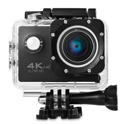 V60S 4K UHD WiFi Waterproof Sports CameraAction Cameras<br>V60S 4K UHD WiFi Waterproof Sports Camera<br><br>Audio System: Built-in microphone/speaker (AAC)<br>Battery Capacity (mAh): 900mAh<br>Battery Type: Removable<br>Camera Pixel : 16MP<br>Charge way: USB charge by PC<br>Charging Time: 45 minutes<br>Chipset: Allwinner V3<br>Chipset Name: Allwinner<br>Features: Wireless<br>Function: Loop-cycle Recording<br>HDMI Output: Yes<br>Image Format : JPEG<br>Language: English,French,German,Italian,Japanese,Korean,Polish,Portuguese,Russian,Simplified Chinese,Spanish,Traditional Chinese<br>Loop-cycle Recording : Yes<br>Max External Card Supported: TF 64G (not included)<br>Microphone: Built-in<br>Model: V60S<br>Package Contents: 1 x Action Camera, 1 x Waterproof Housing + Screw + Mount, 1 x 2.4G Remote Controller, 1 x Chinese / English Wrist RF Instruction, 1 x Power Adapter, 1 x USB Cable, 1 x Backdoor, 1 x Clip, 1 x Frame,<br>Package size (L x W x H): 27.50 x 17.20 x 7.00 cm / 10.83 x 6.77 x 2.76 inches<br>Package weight: 0.5730 kg<br>Product size (L x W x H): 6.00 x 3.00 x 4.00 cm / 2.36 x 1.18 x 1.57 inches<br>Product weight: 0.0600 kg<br>Screen resolution: 960 x 240<br>Screen size: 2.0inch<br>Screen type: LCD<br>Sensor: CMOS<br>Standby time: 120 minutes<br>Type: Sports Camera<br>Type of Camera: 4K<br>Video format: MP4<br>Video Frame Rate: 60FPS<br>Video Resolution: 1080P(60fps),2.7K (30fps),4K (30fps),720P (120fps),720P (30fps),720P (60fps)<br>Water Resistant: 30m<br>Waterproof: Yes<br>White Balance Mode: Auto<br>Wide Angle: 170 degree wide angle<br>WIFI: Yes<br>WiFi Distance : 10m<br>Working Time: 30 - 90 minutes