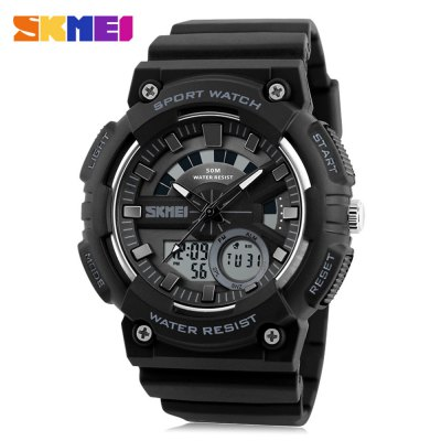 SKMEI 1235 Men Sports WatchLED Watches<br>SKMEI 1235 Men Sports Watch<br><br>Available Color: Black,Blue,Gold,Orange<br>Band material: PU<br>Band size: 26.5 x 2.4 cm / 10.43 x 0.94 inches<br>Brand: Skmei<br>Case material: ABS<br>Clasp type: Pin buckle<br>Dial size: 4.8 x 4.8 x 1.7 cm / 1.89 x 1.89 x 0.67 inches<br>Display type: Analog-Digital<br>Hour formats: 12/24 Hour<br>Movement type: Quartz + digital watch<br>Outer perimeter: 17 - 24 cm / 6.69 - 9.45 inches<br>Package Contents: 1 x SKMEI 1235 Men Sports Watch, 1 x Box<br>Package size (L x W x H): 7.50 x 7.50 x 8.00 cm / 2.95 x 2.95 x 3.15 inches<br>Package weight: 0.130 kg<br>People: Male table<br>Product size (L x W x H): 26.50 x 4.80 x 1.70 cm / 10.43 x 1.89 x 0.67 inches<br>Product weight: 0.060 kg<br>Shape of the dial: Round<br>Special features: Alarm Clock<br>Watch style: Outdoor Sports<br>Water resistance : 50 meters