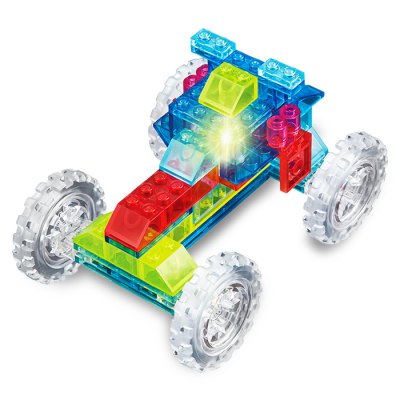 6 in 1 Truck Style ABS Cartoon Building Brick - 76pcs
