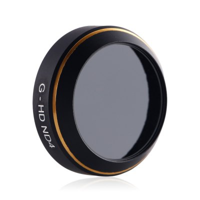 G - HD ND4 Camera Lens Neutral Density FilterRC Quadcopter Parts<br>G - HD ND4 Camera Lens Neutral Density Filter<br><br>Compatible with: DJI Mavic Pro Camera<br>Package Contents: 1 x Lens Filter<br>Package size (L x W x H): 6.60 x 6.60 x 1.80 cm / 2.6 x 2.6 x 0.71 inches<br>Package weight: 0.046 kg<br>Product size (L x W x H): 2.10 x 2.10 x 0.60 cm / 0.83 x 0.83 x 0.24 inches<br>Product weight: 0.002 kg<br>Type: Lens Filter