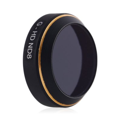 G - HD ND8 Camera Lens Neutral Density FilterRC Quadcopter Parts<br>G - HD ND8 Camera Lens Neutral Density Filter<br><br>Compatible with: DJI Mavic Pro Camera<br>Package Contents: 1 x Lens Filter<br>Package size (L x W x H): 6.60 x 6.60 x 1.80 cm / 2.6 x 2.6 x 0.71 inches<br>Package weight: 0.046 kg<br>Product size (L x W x H): 2.10 x 2.10 x 0.60 cm / 0.83 x 0.83 x 0.24 inches<br>Product weight: 0.002 kg<br>Type: Lens Filter