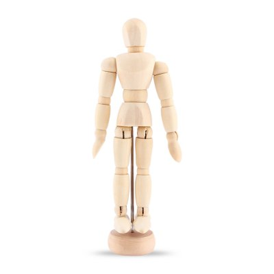BEILEXING 4.53 inch Joint Movable Carved Mannequin Puppet with Base