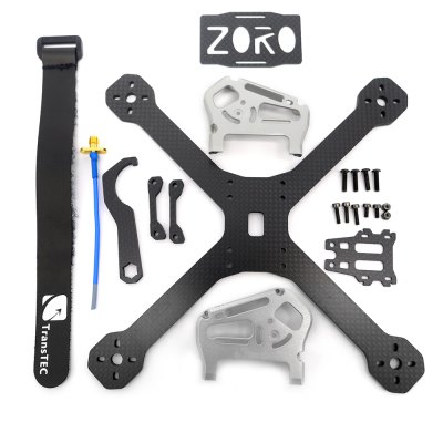 ZORO 220mm Carbon Fiber DIY Frame KitRacing Frame<br>ZORO 220mm Carbon Fiber DIY Frame Kit<br><br>Package Contents: 1 x Frame Kit, 1 x Pack of Fittings, 1 x Shielded Cable, 1 x Battery Strap, 1 x Carbon Fiber Wrench<br>Package size (L x W x H): 22.00 x 23.00 x 3.00 cm / 8.66 x 9.06 x 1.18 inches<br>Package weight: 0.270 kg<br>Product size (L x W x H): 18.50 x 18.50 x 5.40 cm / 7.28 x 7.28 x 2.13 inches<br>Product weight: 0.084 kg<br>Type: Frame Kit