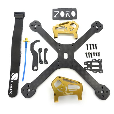 ZORO Race 195mm Carbon Fiber DIY Frame KitRacing Frame<br>ZORO Race 195mm Carbon Fiber DIY Frame Kit<br><br>Package Contents: 1 x Frame Kit, 1 x Pack of Fittings, 1 x Shielded Cable, 1 x Battery Strap, 1 x Carbon Fiber Wrench<br>Package size (L x W x H): 22.00 x 23.00 x 3.00 cm / 8.66 x 9.06 x 1.18 inches<br>Package weight: 0.270 kg<br>Product size (L x W x H): 17.00 x 17.00 x 5.40 cm / 6.69 x 6.69 x 2.13 inches<br>Product weight: 0.075 kg<br>Type: Frame Kit
