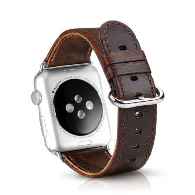 OATSBASF Crazy Horse WatchbandApple Watch Bands<br>OATSBASF Crazy Horse Watchband<br><br>Brand: OATSBASF<br>Color: Deep Brown,Light Brown<br>Function: for Apple Watch 42mm<br>Material: Stainless Steel, Tempered Glass, TPU, Genuine Leather<br>Package Contents: 1 x Watchband, 1 x Screen Film, 1 x Protective Case, 1 x Dust Remover, 1 x Wet Wipes, 1 x Dry Wipes<br>Package size: 19.20 x 12.00 x 3.20 cm / 7.56 x 4.72 x 1.26 inches<br>Package weight: 0.1300 kg<br>Product weight: 0.0160 kg