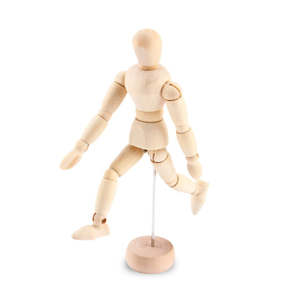 BEILEXING Joint Carved Mannequin Puppet with Base - 8.03 inch