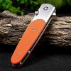 best Ganzo G743-1-OR Frame Lock Folding Knife